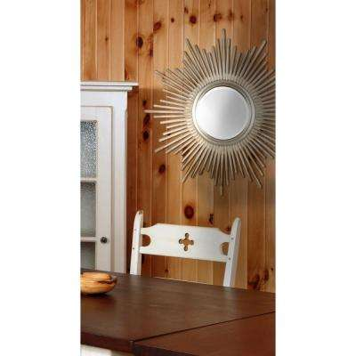 Shine 36 In Round Polyurethane Framed Mirror