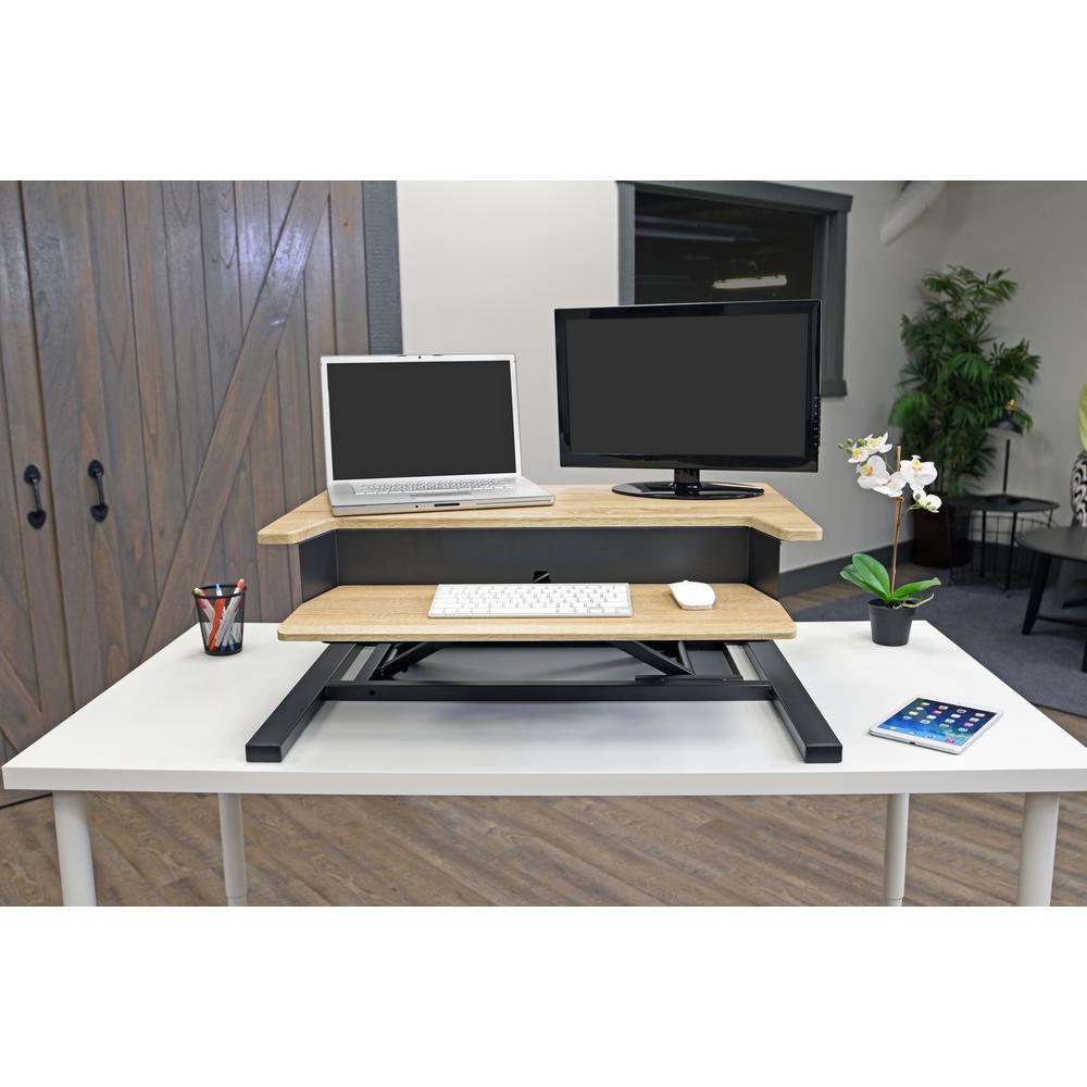 32-Pro Charcoal Standing Desk Converter