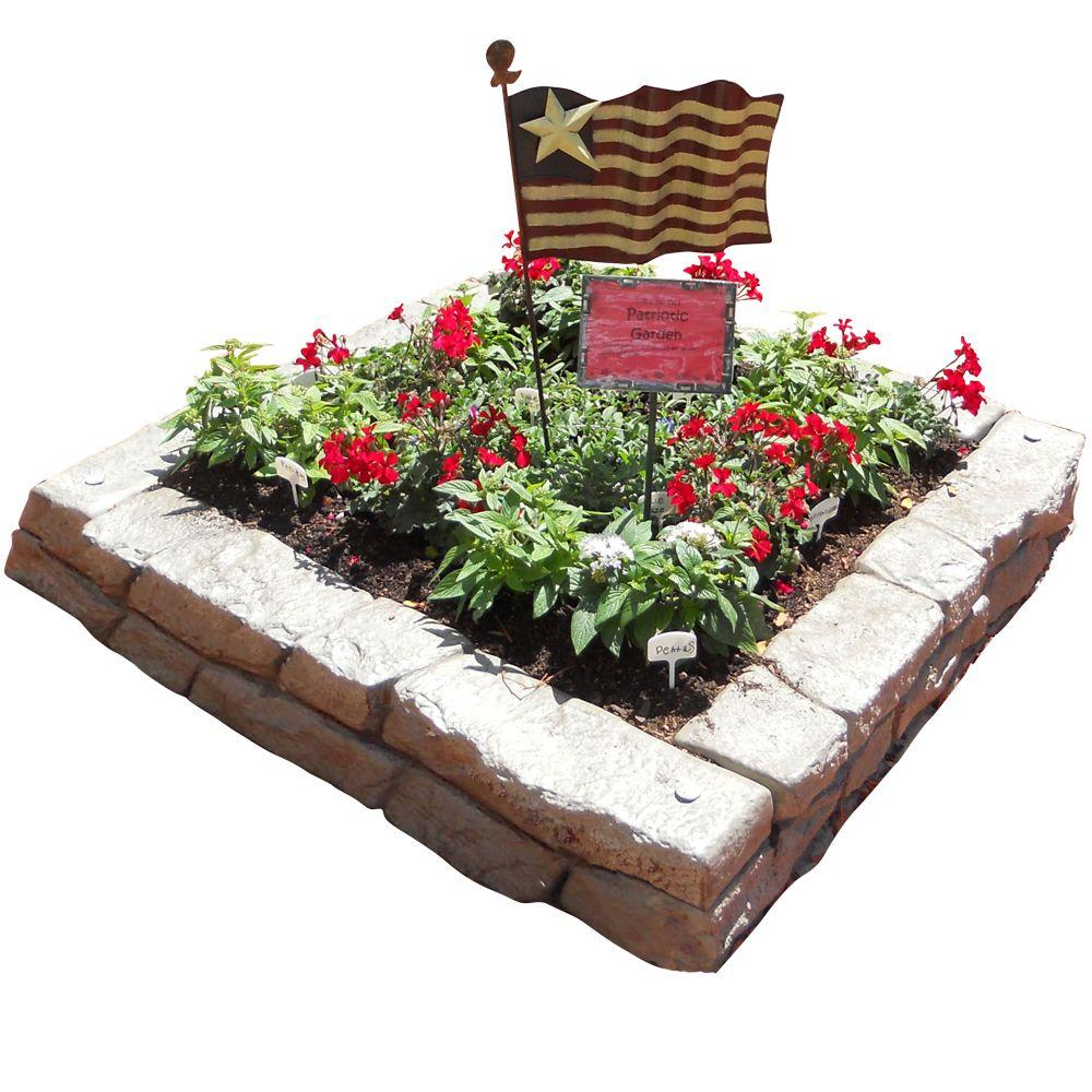 RTS Home Accents 48 in. W x 48 in. D x 10 in. H Rock Lock Raised Garden Bed Kit