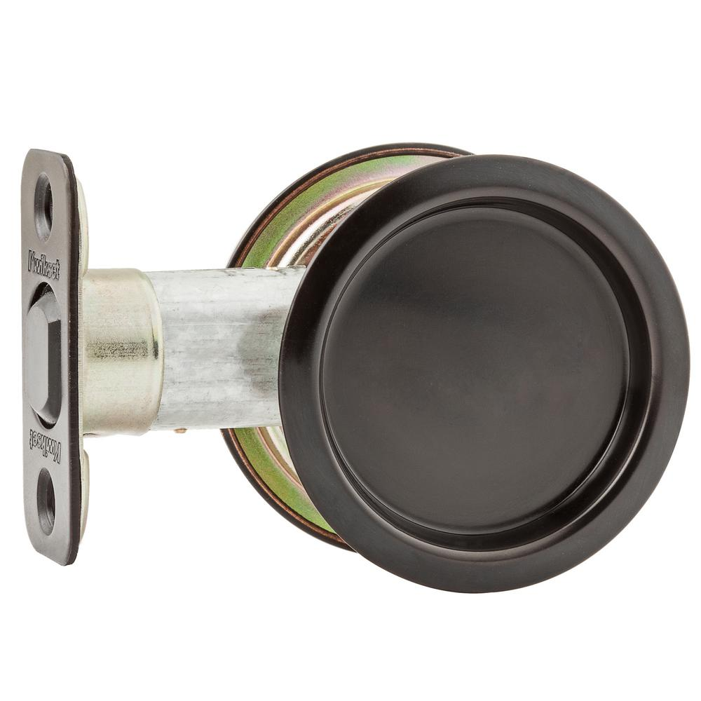 Kwikset Round Oil Rubbed Bronze Hall/Closet Pocket Door Lock