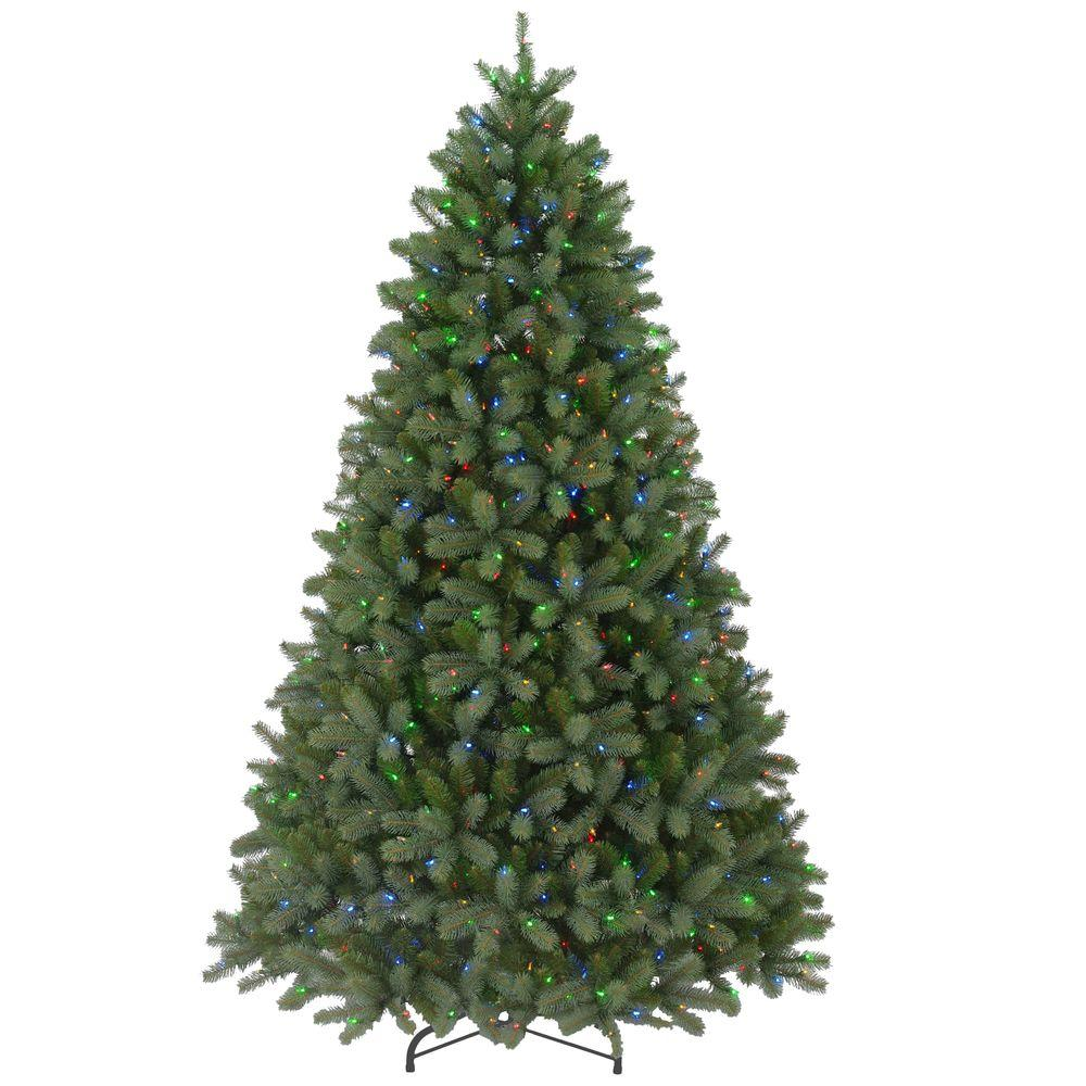 7 5 Foot Artificial Christmas Tree Multi Colored Lights: 7.5 Ft. FEEL-REAL Downswept Douglas Fir Artificial