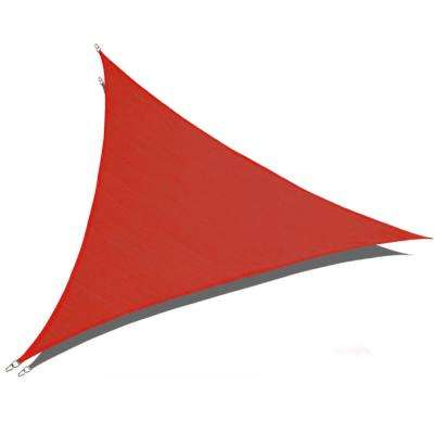 12 ft. x 12 ft. x 12 ft. Red Triangle Sun Shade Sail 185 GSM UV Block for Patio Deck Yard and Outdoor Activities