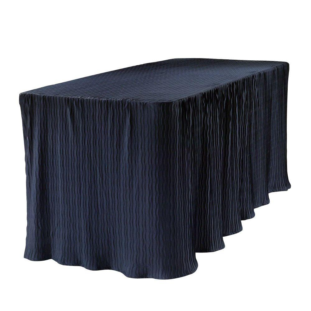 table cloth made for folding tables machine washable skirt 29inch 6 ft blue 858291003015 ebay. Black Bedroom Furniture Sets. Home Design Ideas