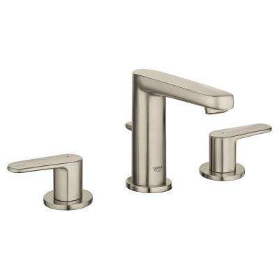 Europlus 8 in. Widespread 2-Handle 1.2 GPM Bathroom Faucet in Brushed Nickel InfinityFinish