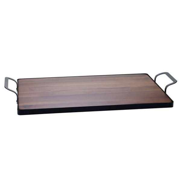 Certified International Acacia 24 in. x 5.25 in. Wood Brown Tray