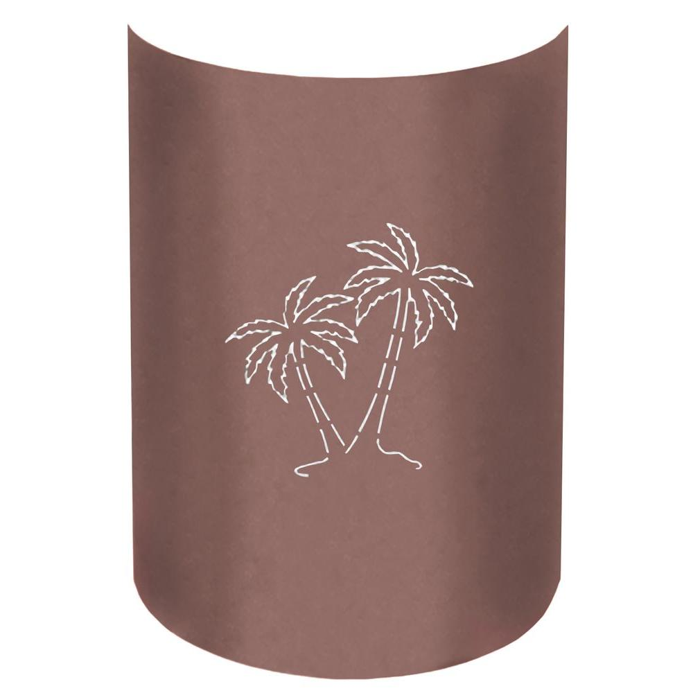 Aspen 1-Light Outdoor Copper Canyon Palm Tree Wall Sconce