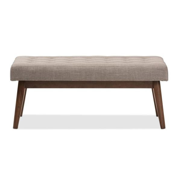 Baxton Studio Elia Light Gray Bench 28862-7563-HD