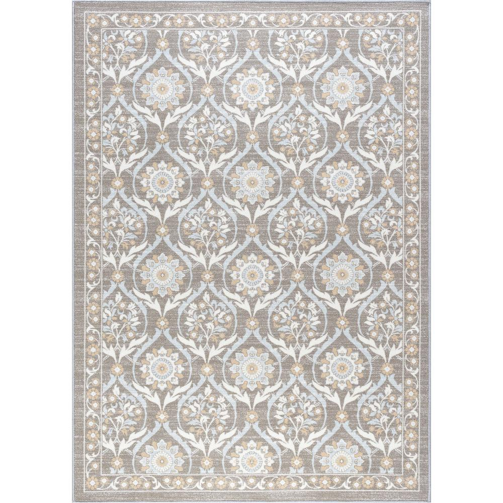 Washable Rugs Home Depot: Tayse Rugs Majesty Taupe 8 Ft. X 10 Ft. Transitional Area