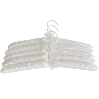 Cream Satin Hangers (5-Pack)