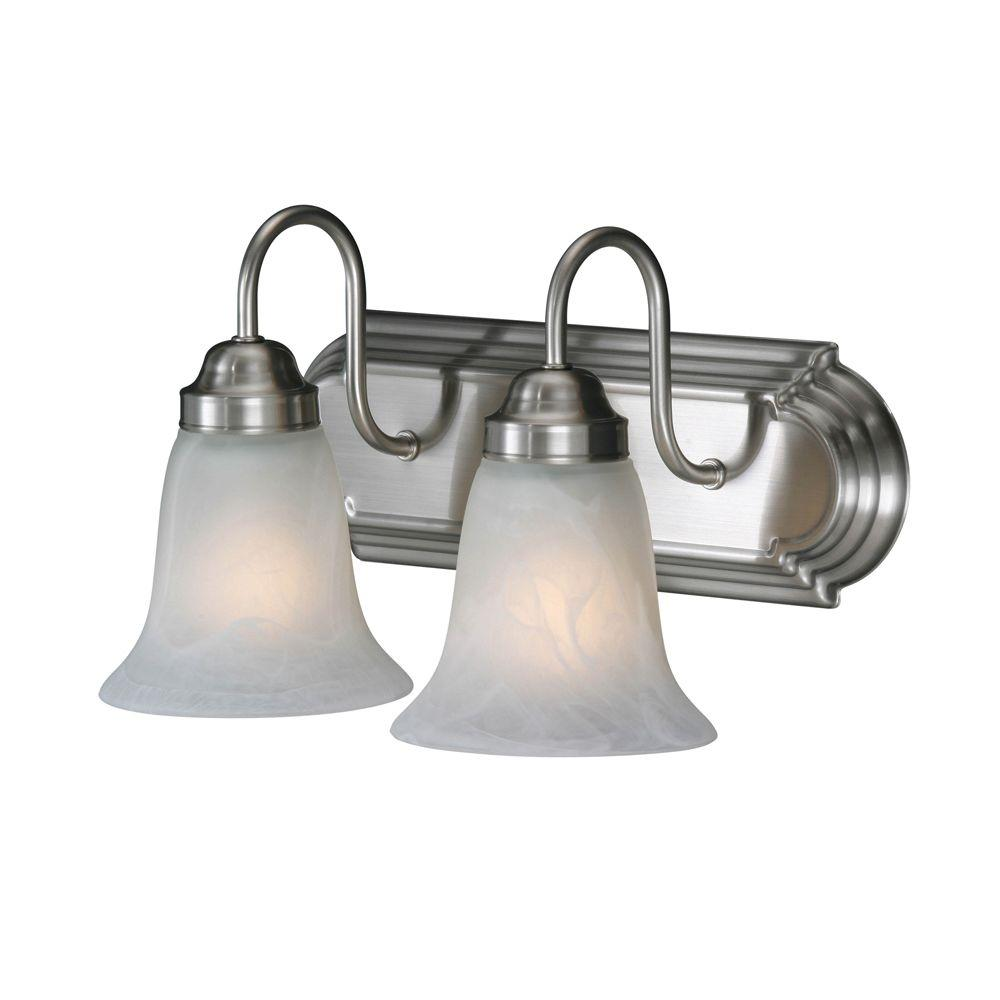 null Yvonne Collection 2-Light Pewter Vanity Light