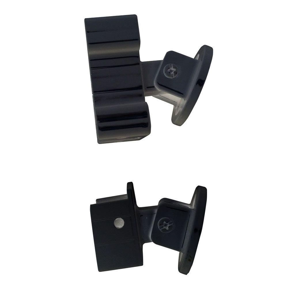 Black Aluminum Stair Hand and Base Rail Bracket