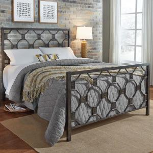 Fashion Bed Group Baxter Heritage Silver King Metal Bed