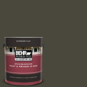 Ppu24 01 Black Mocha Flat Exterior Paint And Primer In One