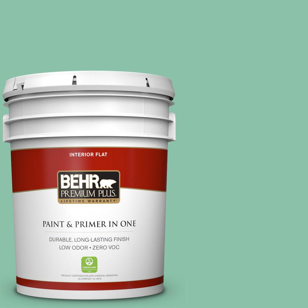BEHR Premium Plus Home Decorators Collection 5-gal. #HDC-WR14-8 Spearmint Frosting Flat Interior Paint