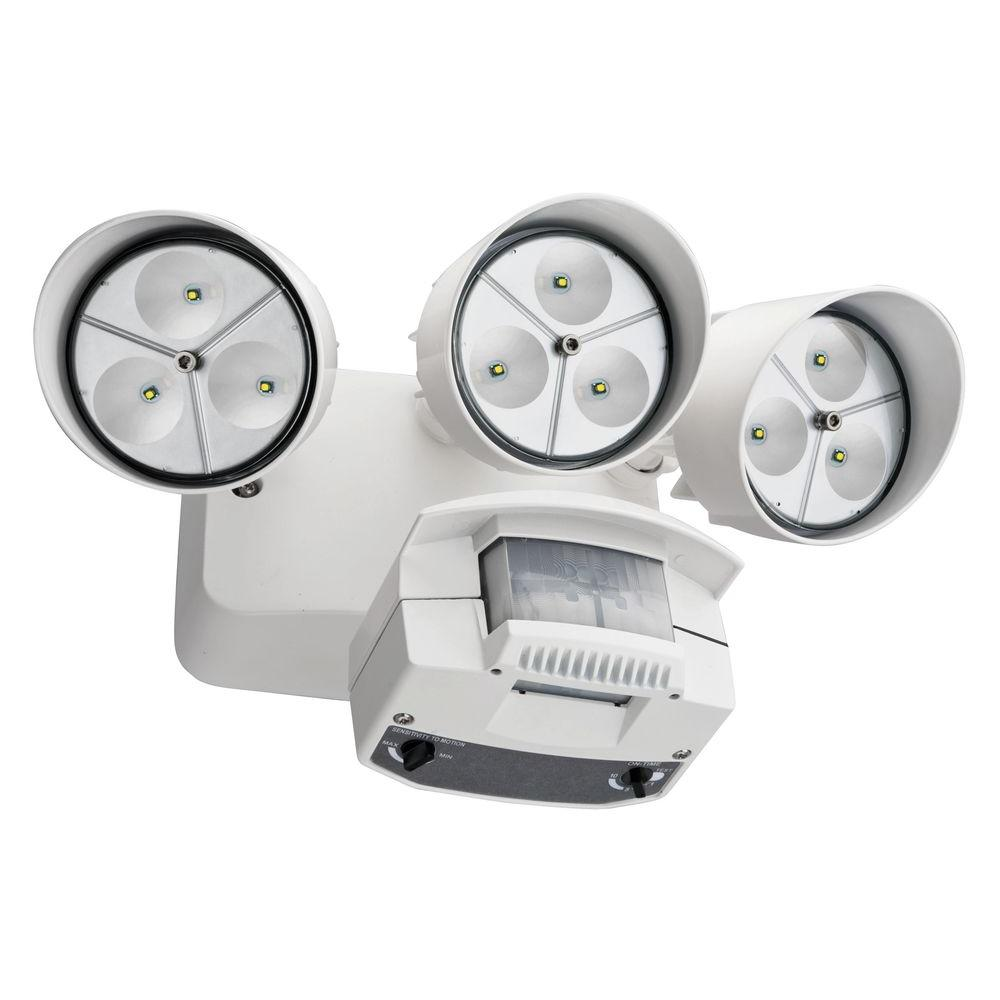 Awesome Lithonia Lighting White Motion Sensor Outdoor Flood Light LED