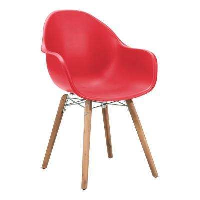 Tidal Patio Dining Chair in Red (Pack of 4)