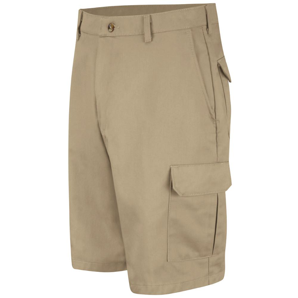 afd674dc6f Red Kap Men's Size 40 in. x 12 in. Khaki Cotton Cargo Short-PC86KH 40 12 -  The Home Depot