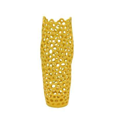 Yellow Vases Vases Decorative Bottles The Home Depot