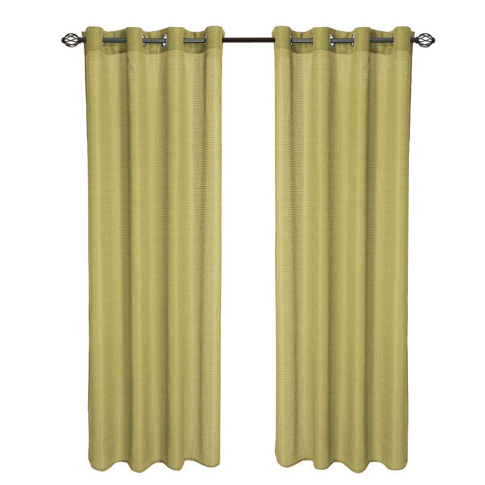 Olivia Jacquard Grommet Curtain Panel