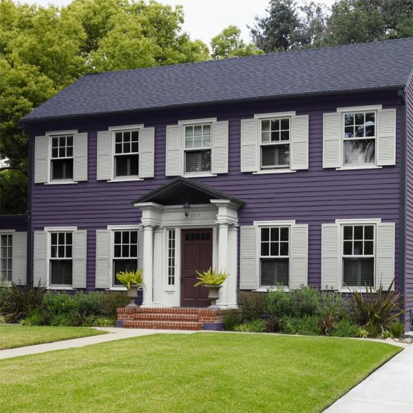 Reviews For Behr Marquee 1 Gal S H 650 Berry Charm Satin Enamel Exterior Paint Primer 945301 The Home Depot
