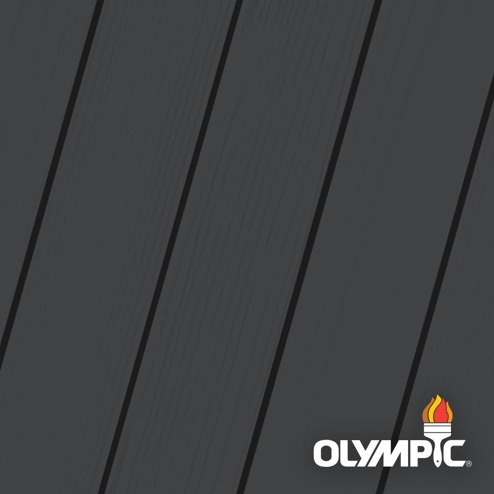 Olympic Maximum 5 gal. Ebony Semi-Transparent Exterior Stain and ...