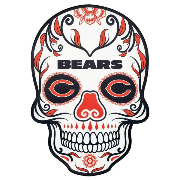 Applied Icon NFL Chicago Bears Outdoor Skull Graphic- Large NFOS0603