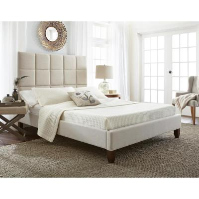 Hayley Taupe Full Upholstered Bed