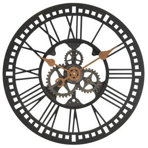 FirsTime 24 in Round Roman Gear Wall Clock00182 The Home Depot