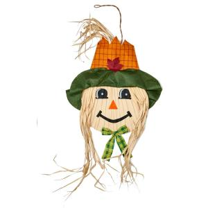50 in. Hanging Scarecrow Face (Set of 2)