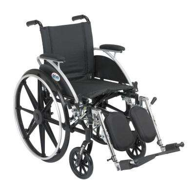 Viper Wheelchair with Flip Back Removable Arms, Desk Arms, Elevating Leg Rests and 14 in. Seat
