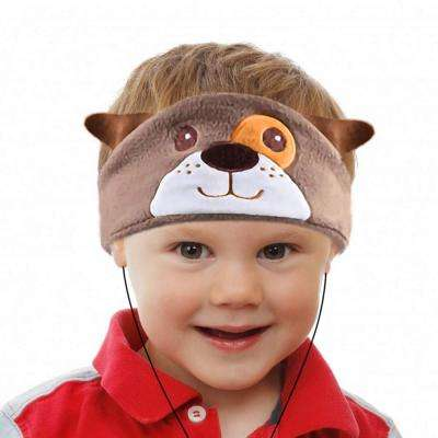 H1 Kids Headphones Volume Limited with Ultra-Thin Speakers Soft Fleece Headband (Dog)