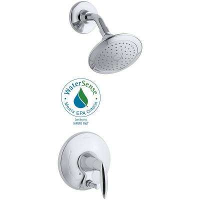 Alteo 1-Handle Shower Faucet Trim Kit with Push-Button Diverter in Polished Chrome (Valve Not Included)