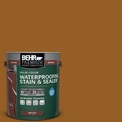 1 gal. #SC-134 Curry Solid Color Waterproofing Exterior Wood Stain and Sealer