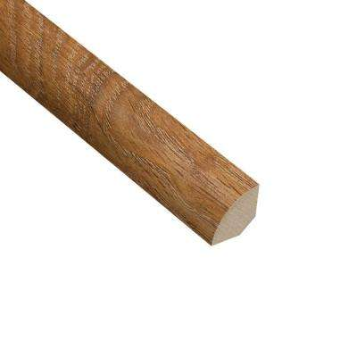 Palace Oak Light 3/4 in. Thick x 3/4 in. Wide x 94 in. Length Laminate Quarter Round Molding