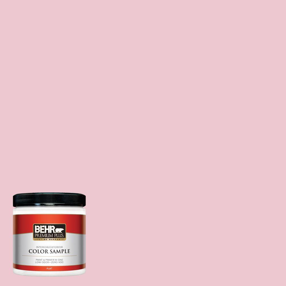 BEHR Premium Plus 8 oz. #M140-2 Funny Face Flat Interior/Exterior Paint and Primer in One Sample The BEHR Premium Plus 8 oz. Interior/Exterior Paint Sample lets you try a color before you buy it. This sample is 100% acrylic latex paint that provides a long-lasting, tough finish. For a true idea of whole-room coverage this sample can be tested on almost any interior or exterior surface and covers up to 16 sq. ft. Color: Funny Face.