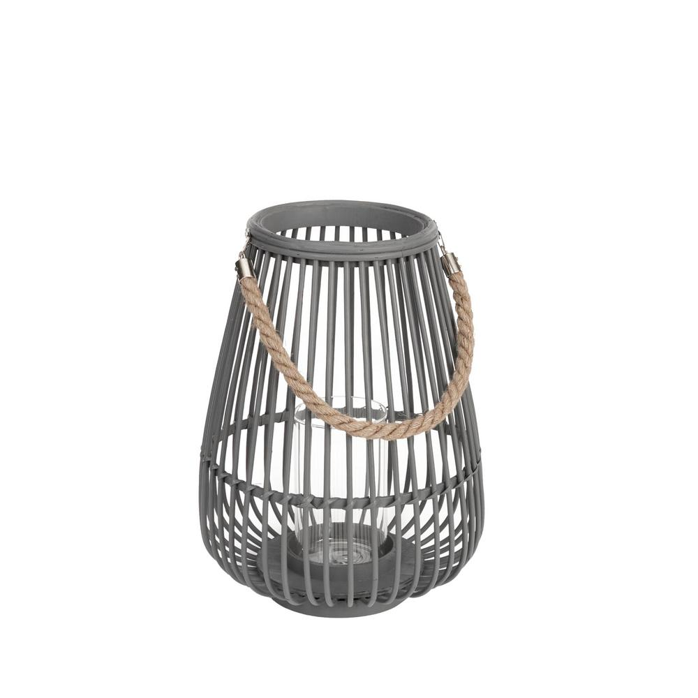 Hampton Bay 14.9 in. Wood and Metal Lantern