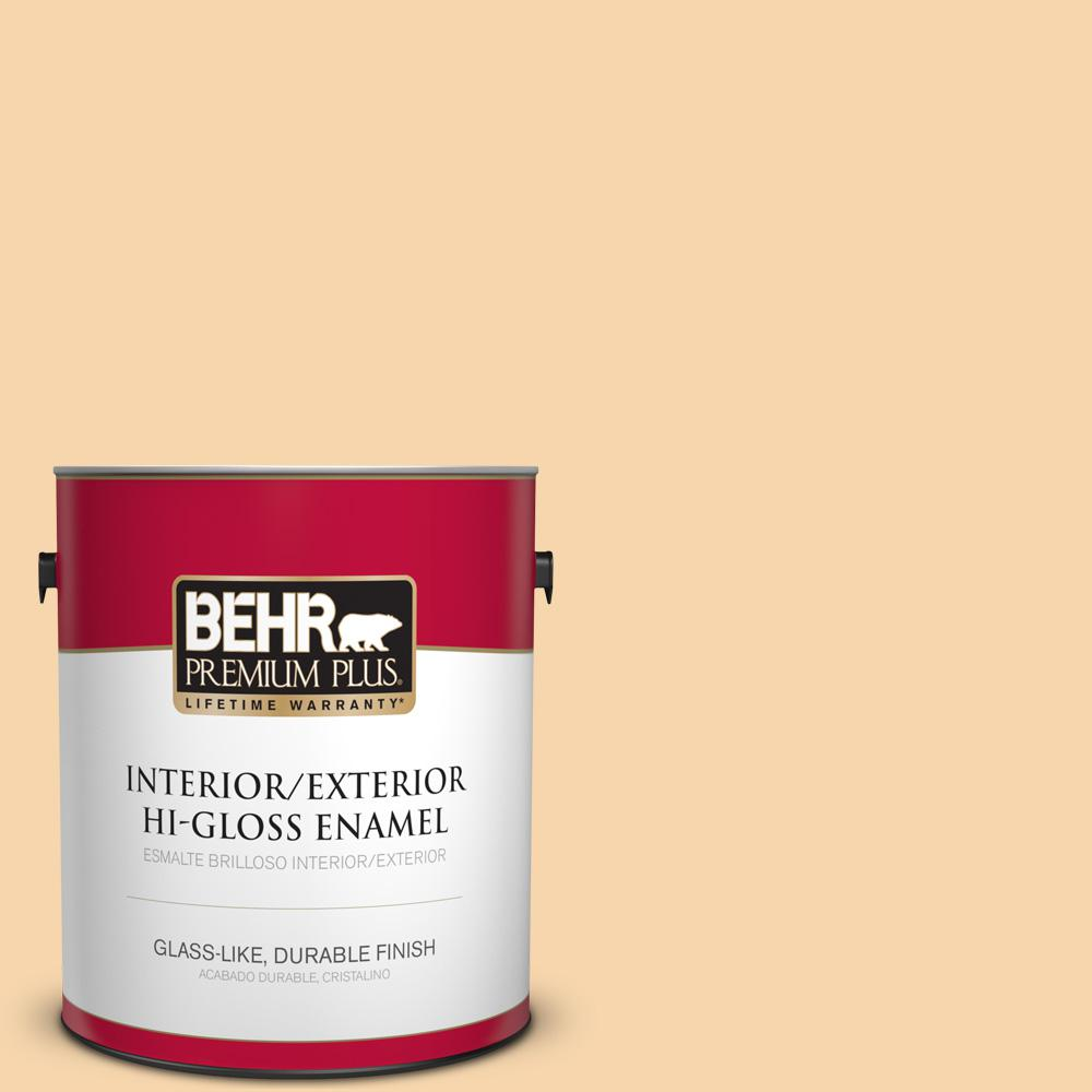 1 gal. #PPU6-08 Pale Honey Hi-Gloss Enamel Interior/Exterior Paint
