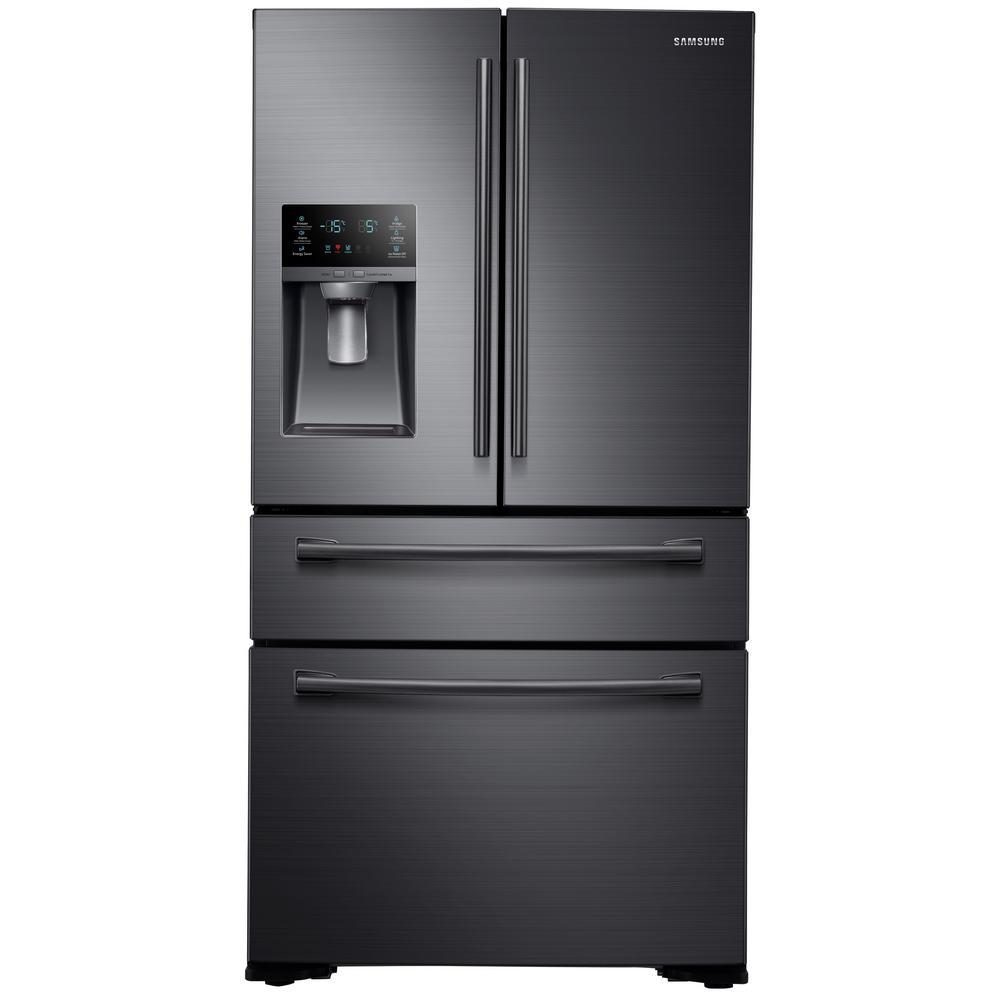 Samsung 29 7 Cu Ft French Door Refrigerator In Fingerprint Resistant Black Stainless