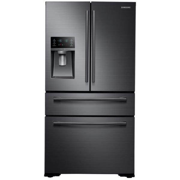 Shop 29.7 cu. ft. French Door Refrigerator in Fingerprint Resistant Black Stainless from Home Depot on Openhaus