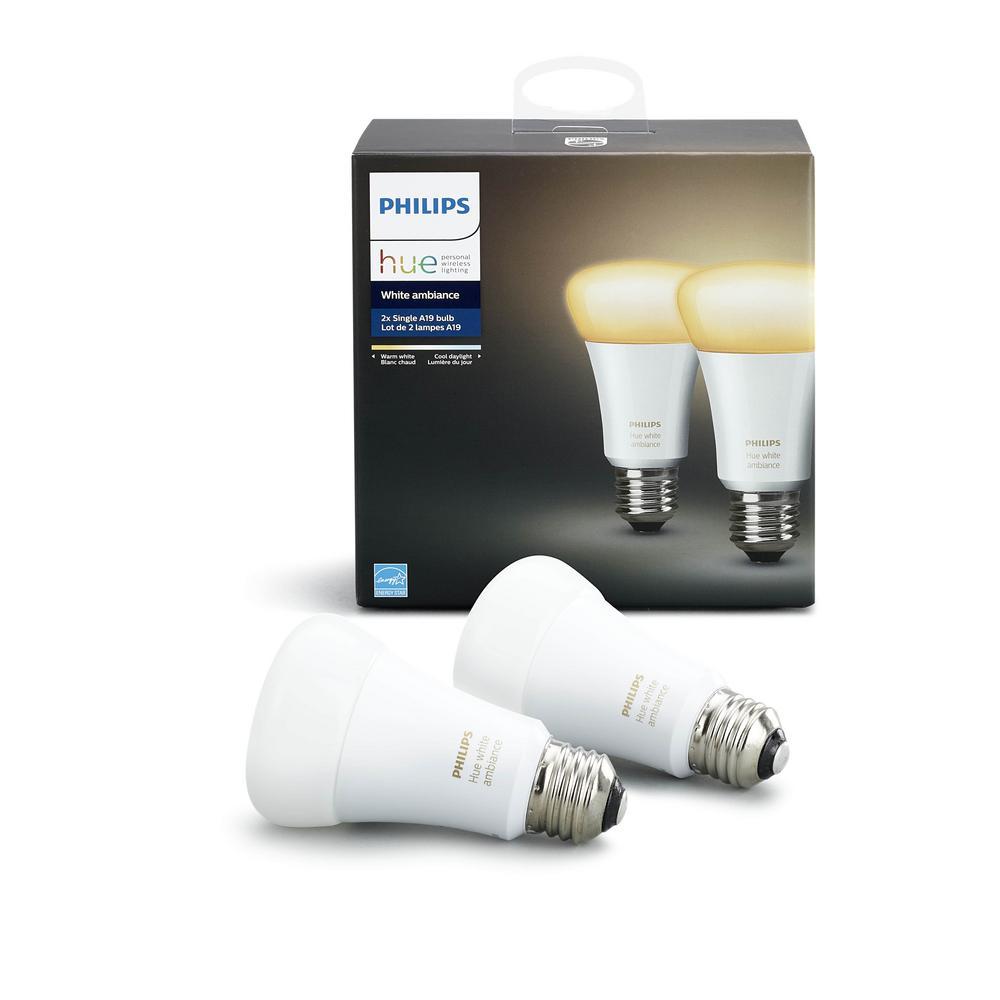 Philips 60W Equivalent Hue White Ambiance A19 LED Bulb (2