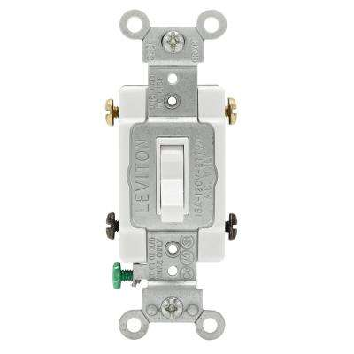 15 Amp Single-Pole Toggle Framed 4-Way AC Switch, White