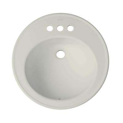 Brookline Drop-In Vitreous China Bathroom Sink in Ice Gray with Overflow Drain