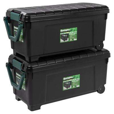 173 Qt. Remington Store-It-All Storage Bin in Black (2-Pack)
