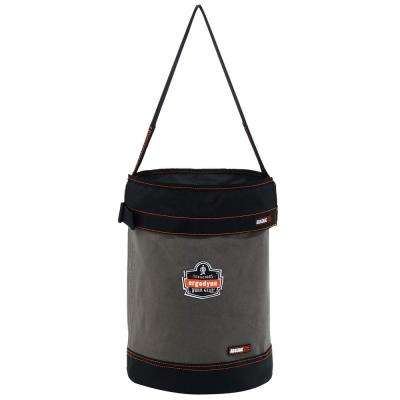 Arsenal 12.5 in. Tool Bucket with Top in Gray Canvas