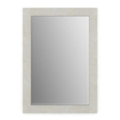 33 in. W x 47 in. H (L1) Framed Rectangular Deluxe Glass Bathroom Vanity Mirror in Stone Mosaic