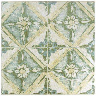 Square 13x13 Multi Color Ceramic Tile Tile The Home Depot