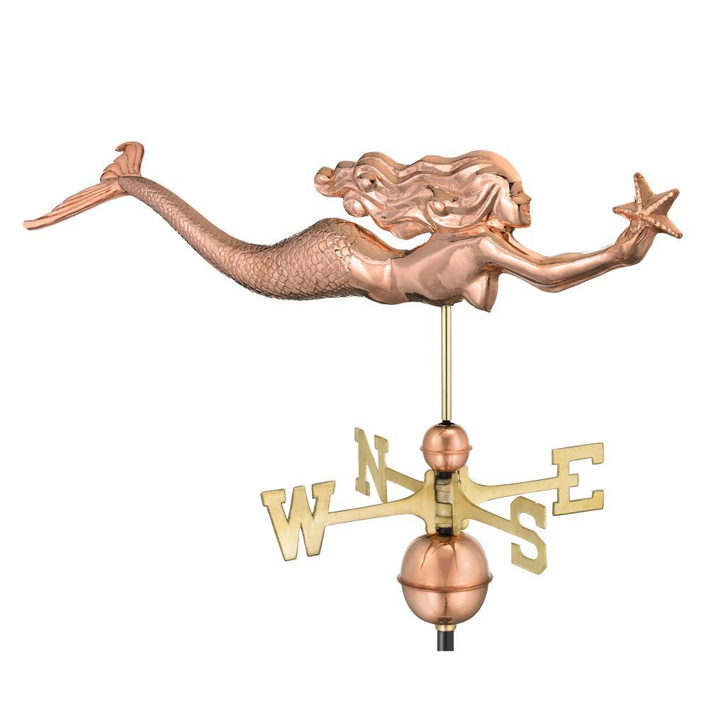 Good Directions Mermaid with Starfish Weathervane - Pure ...