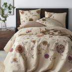 The Company Store Gatehouse Floral Multi Cotton Blend Twin Quilt
