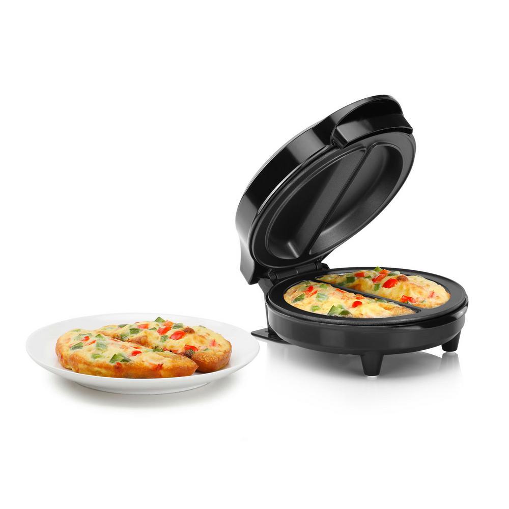 Black Stainless Steel Non-Stick Omelette Maker