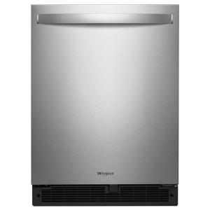 Click here to buy Whirlpool 24 inch W 5.6 cu. ft. Undercounter Refrigerator in Fingerprint Resistant Stainless Steel by Whirlpool.